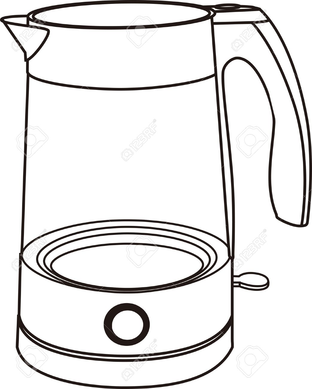 1042x1300 Electric Kettle Clipart