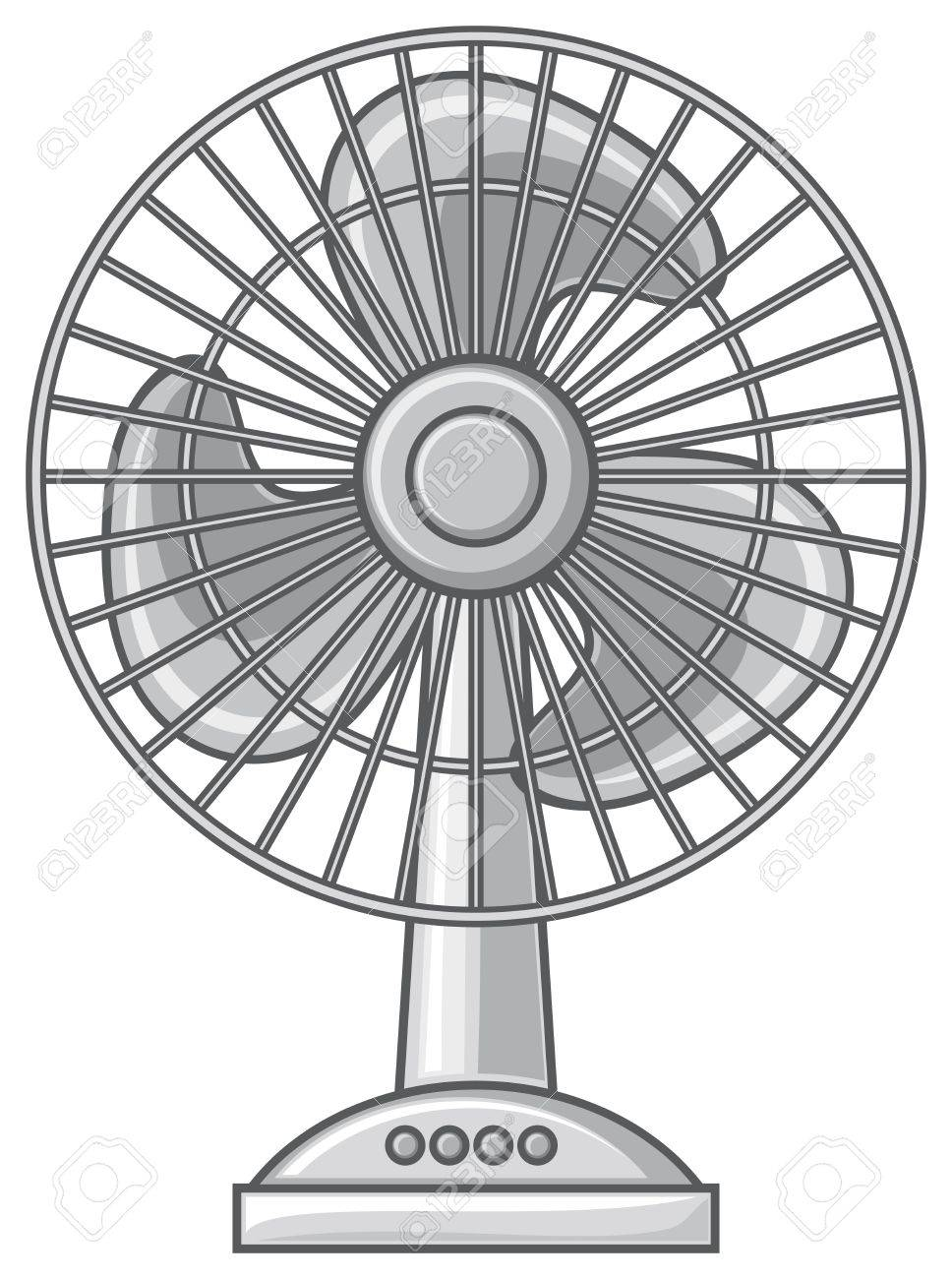 968x1300 Table Fan (Fan For The Home And Office, Electric Fan) Royalty Free