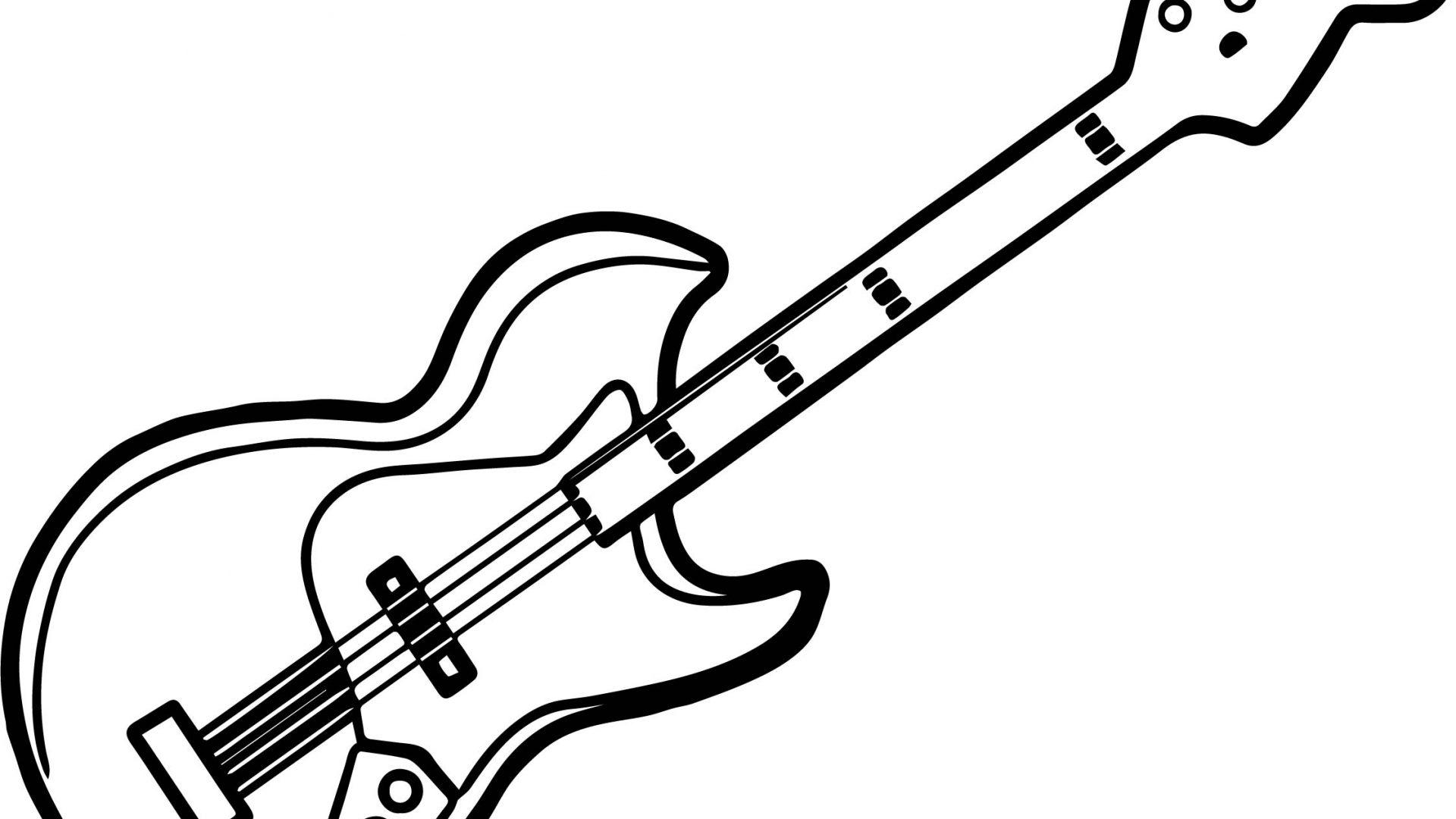 1920x1080 Printable Electric Guitar Coloring Pages Best Free Adult Bass Pick