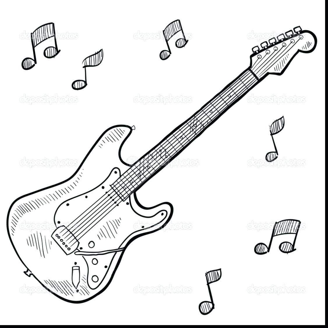 1126x1126 Coloring Electric Guitar Pages