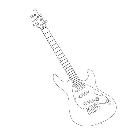 Electric Guitar Outline Drawing At Getdrawings Com Free For