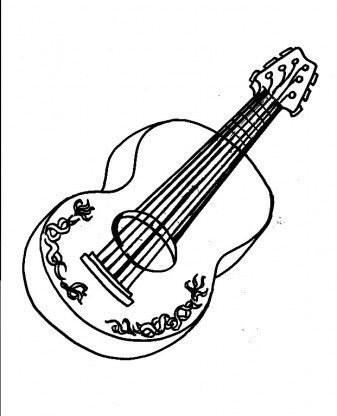 Electric Guitar Silhouette At Getdrawings Com