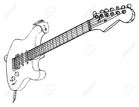 Electric Guitar Body Schematics