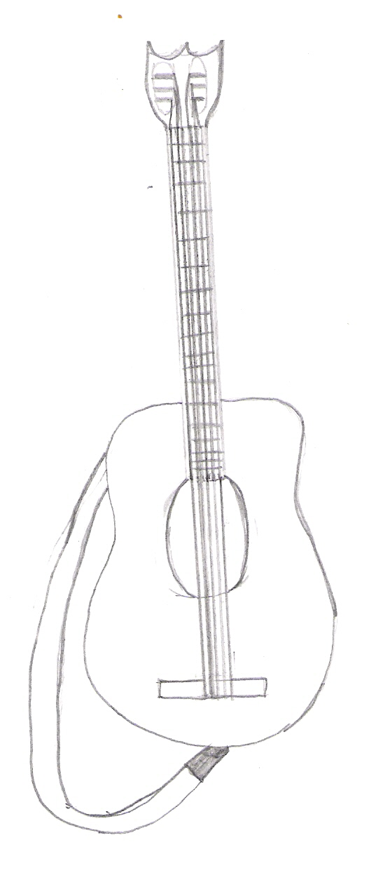 527x1248 Guitar Drawing Guitar By Ahv. Bad Guitar Drawing By Mcrox. Hand
