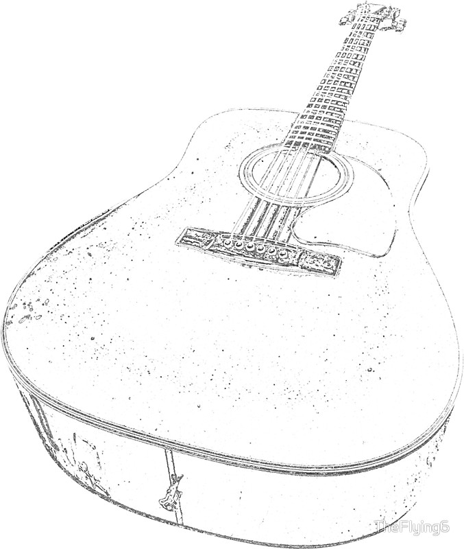 Electric Guitar Pencil Drawing At Getdrawings Com