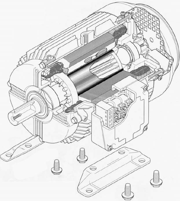 622x695 The Cage Induction Motor Explained In Details