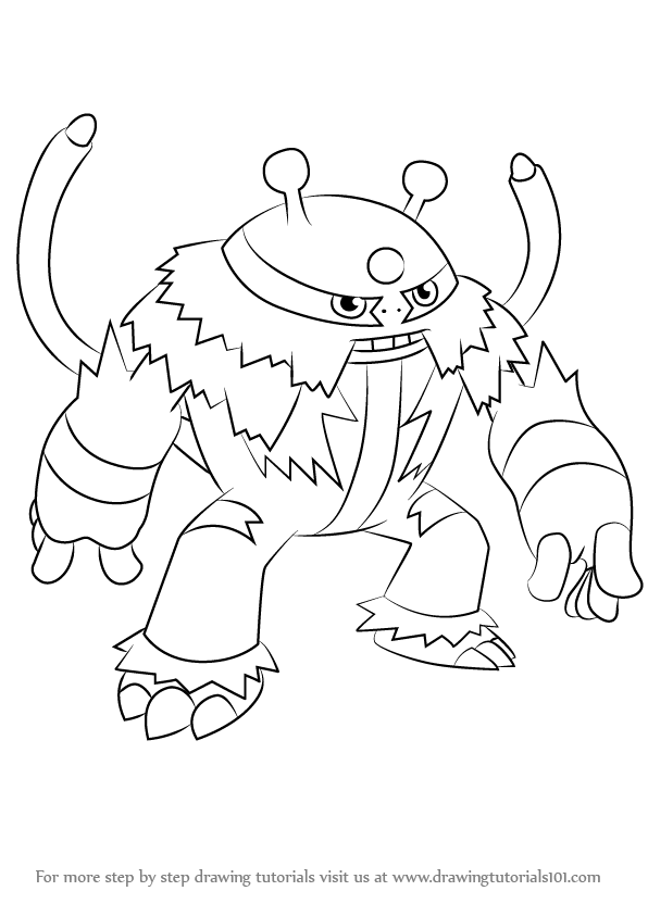 596x843 Learn How To Draw Electivire From Pokemon (Pokemon) Step By Step