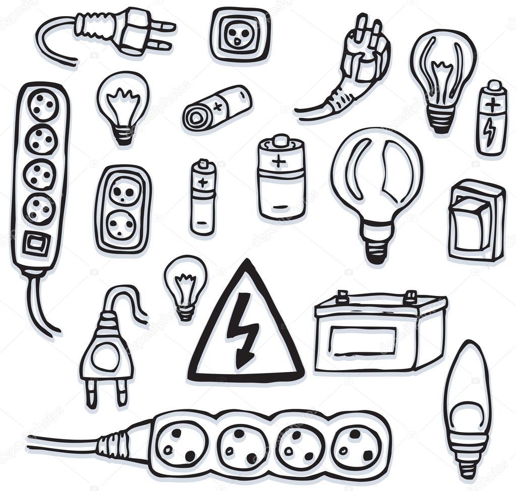 1023x974 Energy And Electric Symbols Stock Vector Jiri Kaderabek