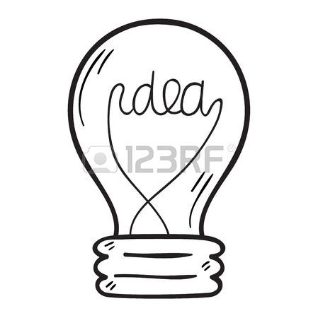 449x450 Drawing Idea Light Bulb Concept Creative Design. Vector Idea