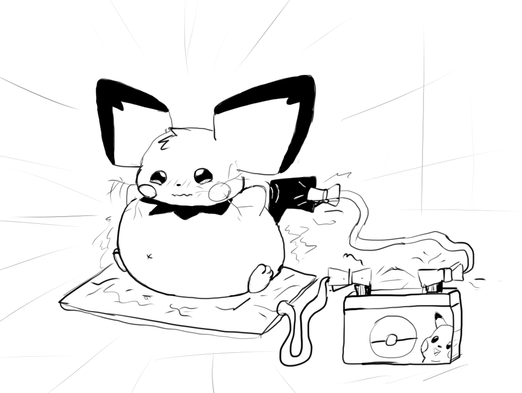 1024x771 Chubby Pichu Electricity Inflation By Alvro
