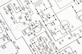 320x213 Drawing Electrical Circuit Stock Photo Colourbox