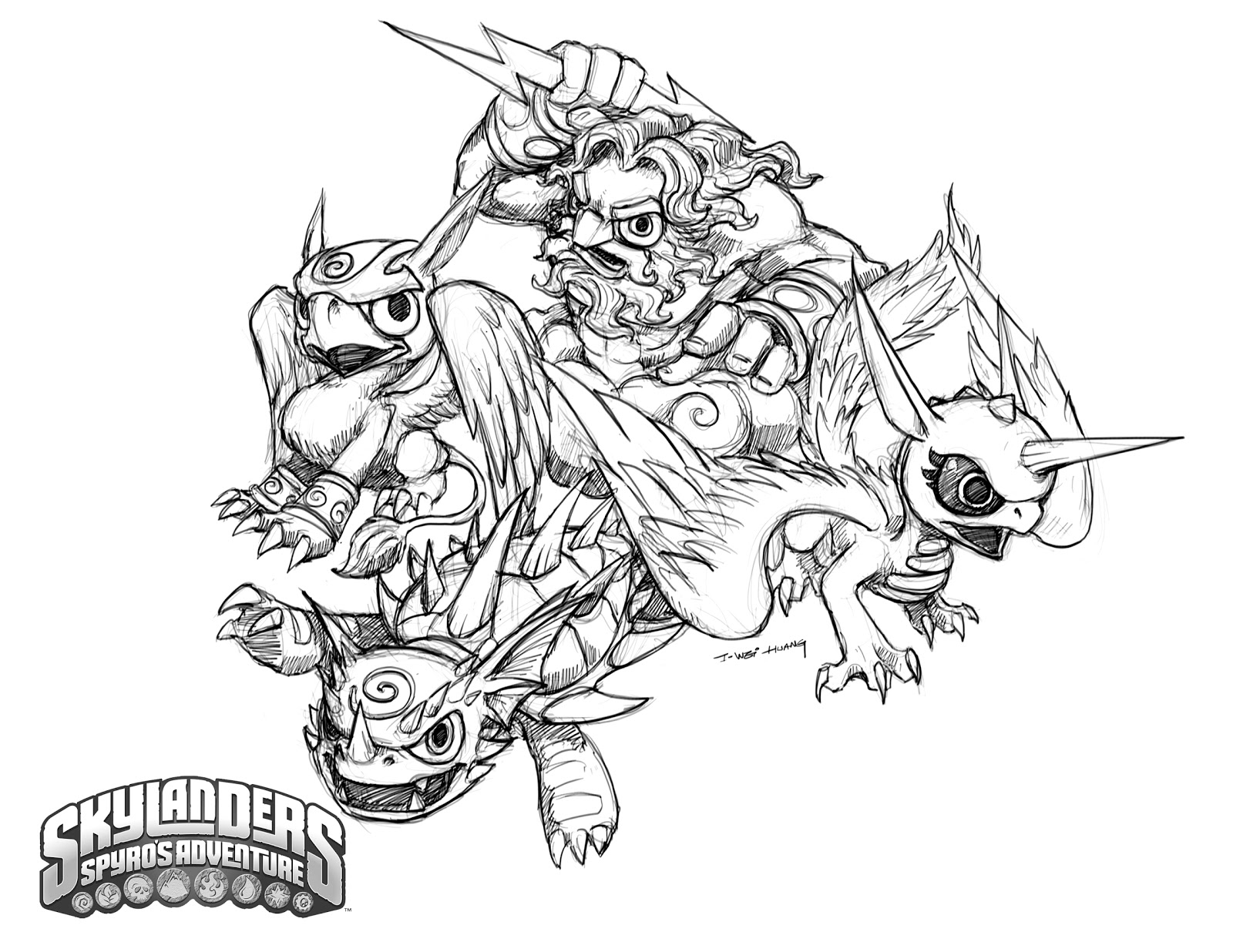 1600x1236 Crabfu Blog Skylanders Speed Drawing Amp Coloring Pages