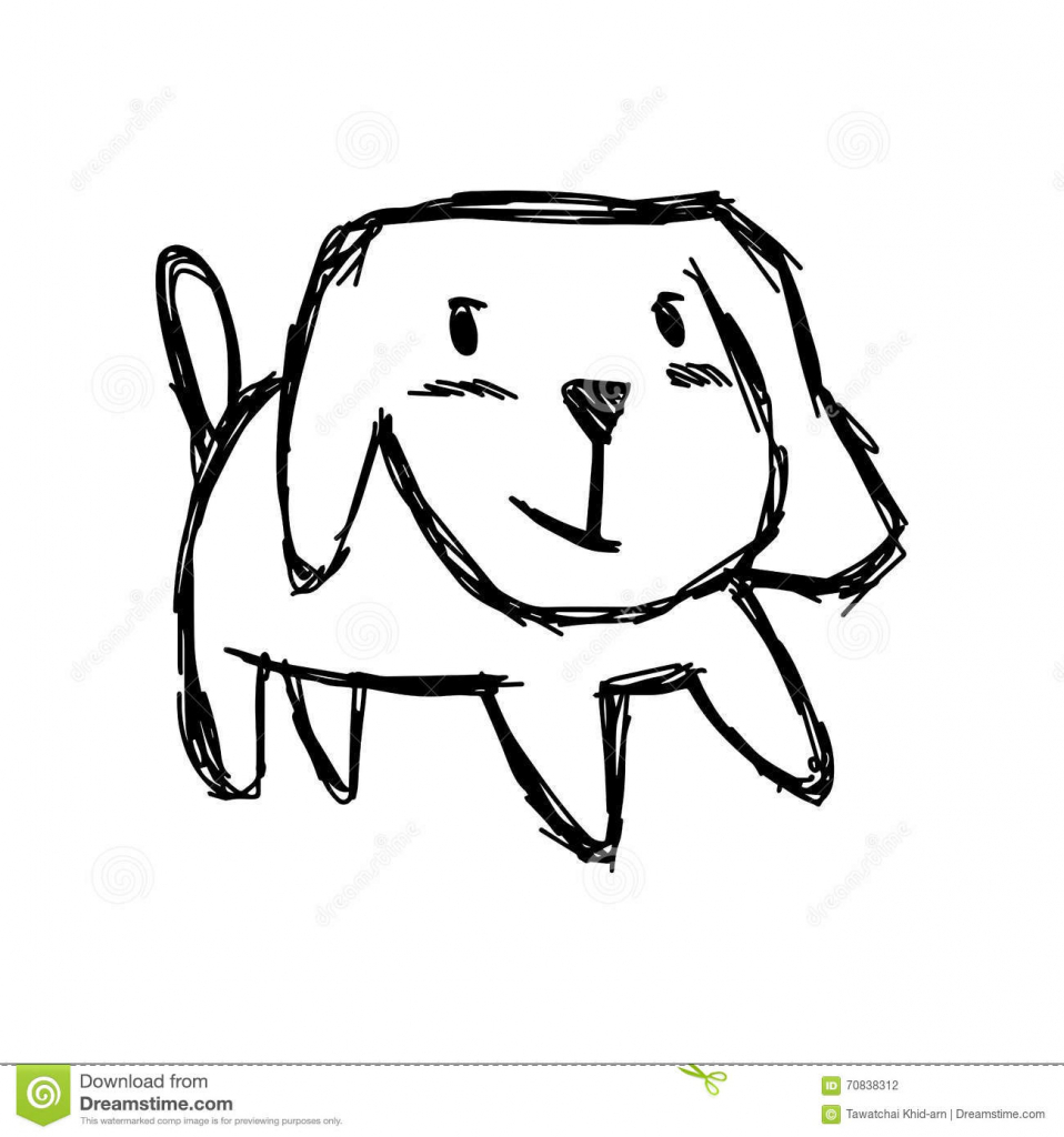 958x1024 Cute Dog Drawings Hand Draw Cute Dog Element Royalty Free Stock