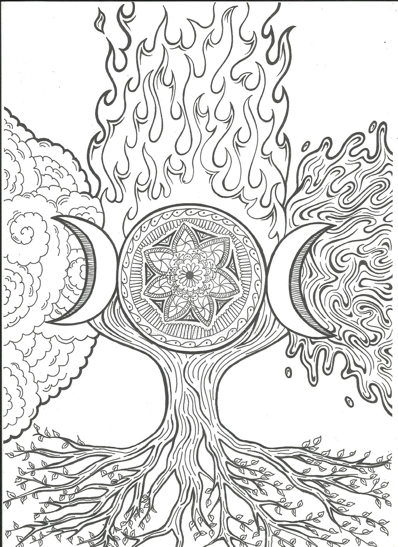 1024x1408 Four Elements By Annelib