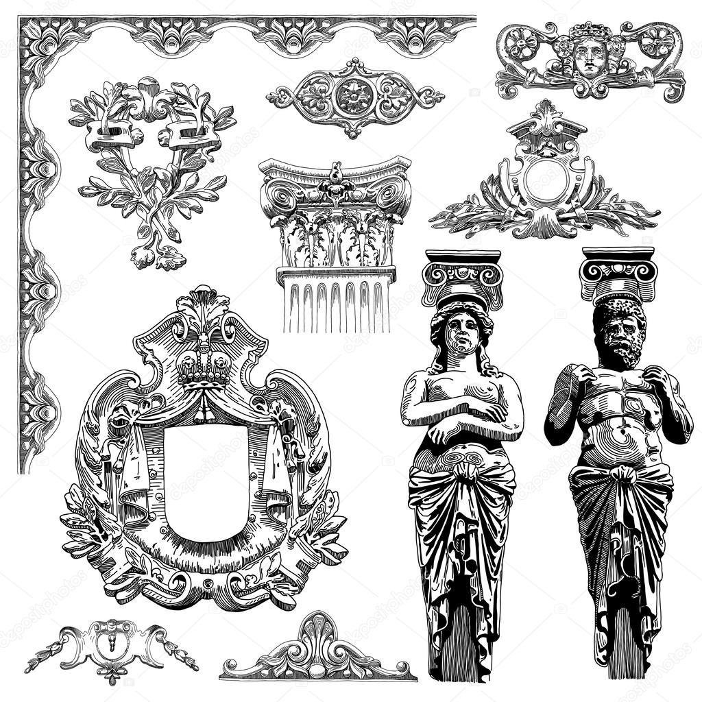 1024x1024 Heraldic Design Element Of Lviv Historical Building Stock Vector