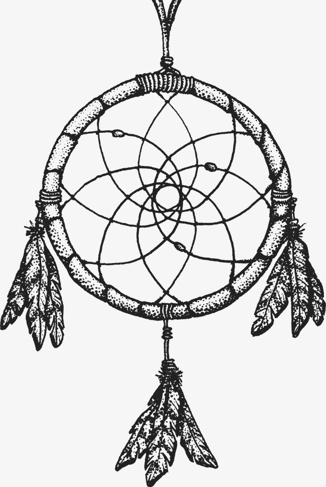 650x972 Indian Element, Pencil Drawing, Black And White, Dreamcatcher Png