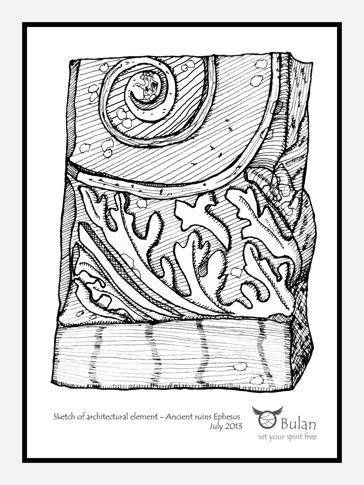 1200x1600 Sketch Of The Day No 73 Ancient Greek Architectural Element