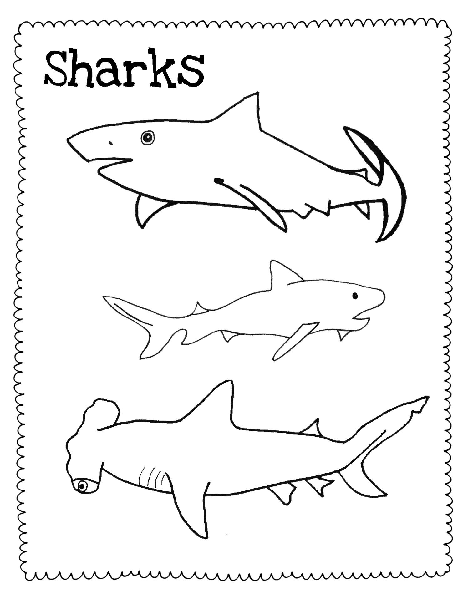 1480x1915 Watercolor Sharks And Free Shark Drawing Guidecoloring Pages