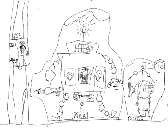 551x439 Kids Drawing Of A Robot