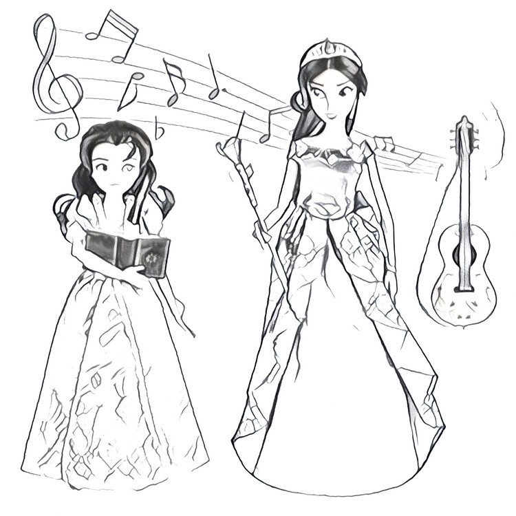 750x750 coloring page elena of avalor 4 - Elena Coloring Pages