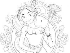 226x170 Elena Of Avalor Coloring Page