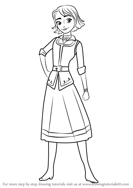 567x800 Learn How To Draw Naomi From Elena Of Avalor (Elena Of Avalor