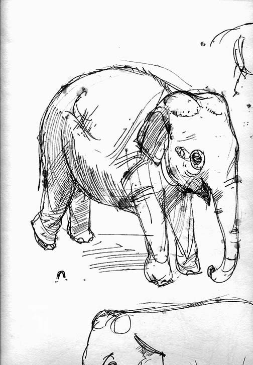 504x727 Random Sketchbook Scan (1) Baby Elephant Drop Cloth