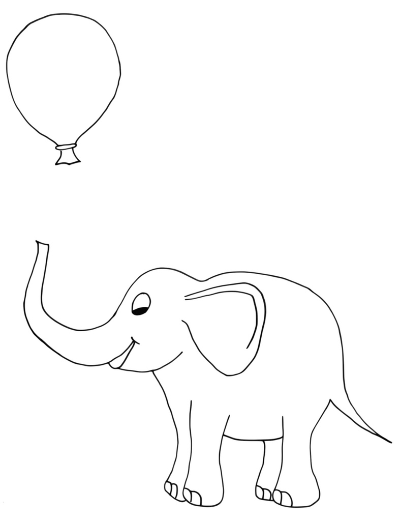 787x1024 Baby Elephant Drawing Of A Bay Elephant I Made To Use