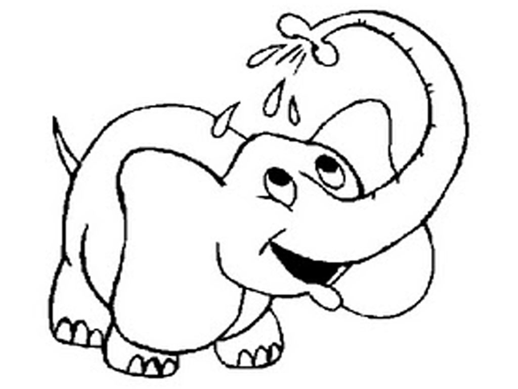 1024x768 Baby Elephant Coloring Pages Just Colorings