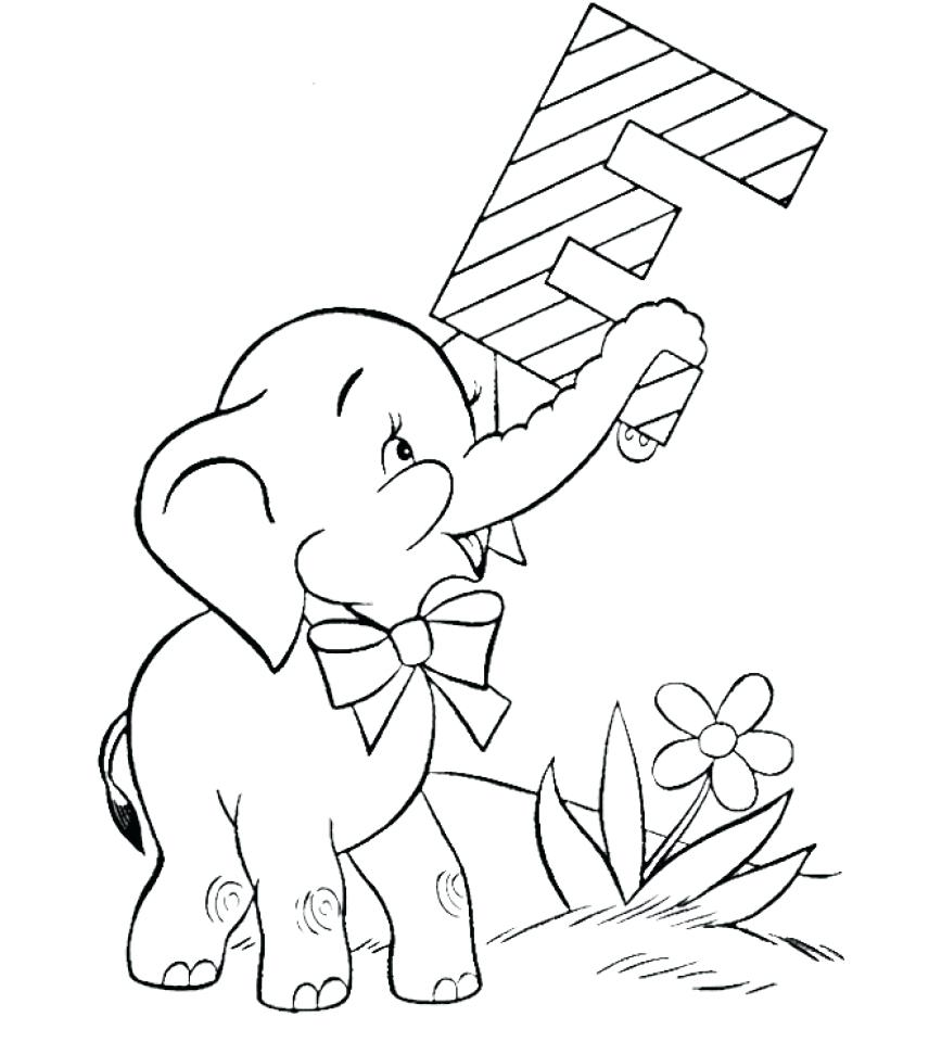 856x960 Coloring Circus Animal Coloring Pages D Elephant Baby Drawing