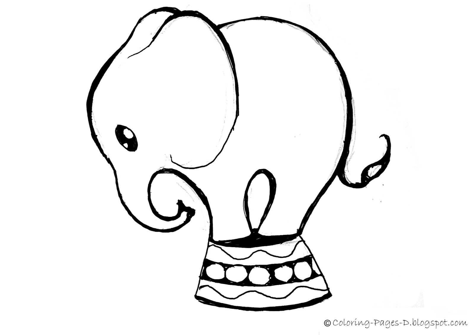 1600x1131 Coloring Pages D Free Elephant Coloring Pages
