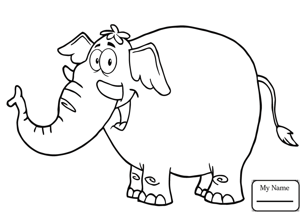 1020x722 Coloring Pages Mammals Baby Elephant In A Circus Elephants