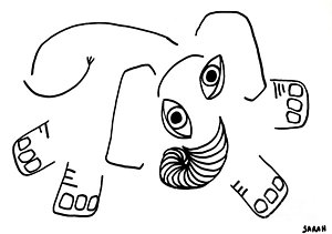 300x211 Baby Elephant Drawings Fine Art America