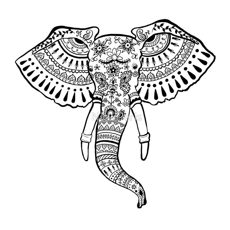 800x800 22 Awesome Henna Art Drawing Elephant