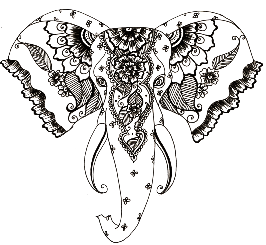 1024x945 Henna Art Drawing Animals