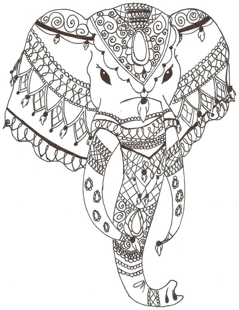 786x1016 Indian Elephant By Grafin Drachen