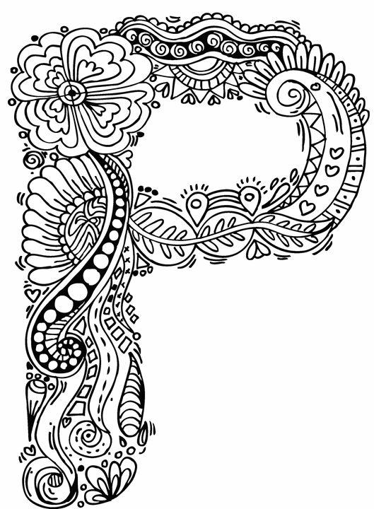 529x720 Alphabet P Doodle Art