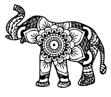 382x335 The Best Mandala Elephant Ideas On Animal Mandala