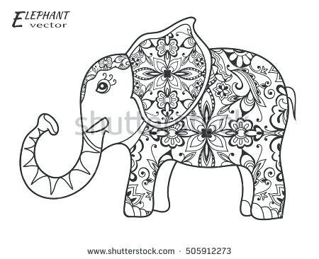 450x366 Colorful Elephant Book As Well As Drawing Stylized Elephant