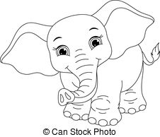 Great 226x194 Cute Baby Elephant Coloring Pages Preschool For Sweet Print Draw