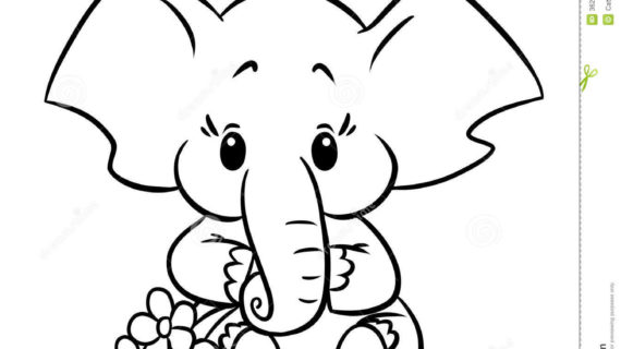 570x320 Cute Baby Elephant Drawing Baby Elephant Template Baby Elephant