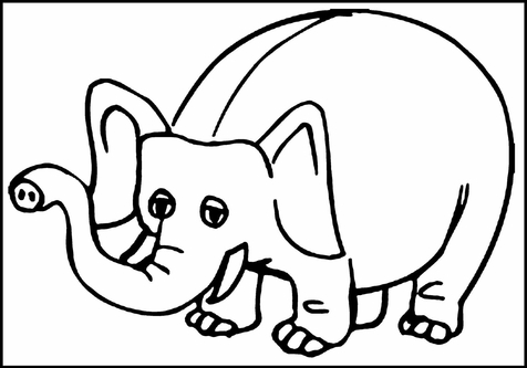 476x333 Elephant Coloring Page Image Clipart Images