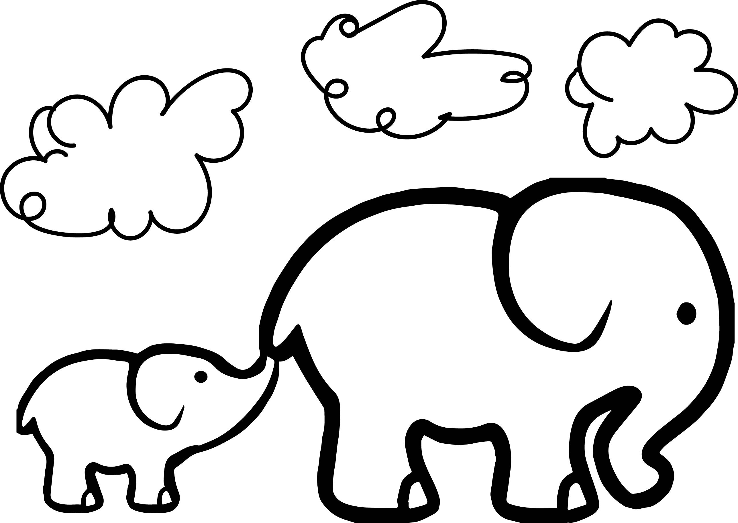 2576x1826 Elephant Colouring Pages For Preschoolers