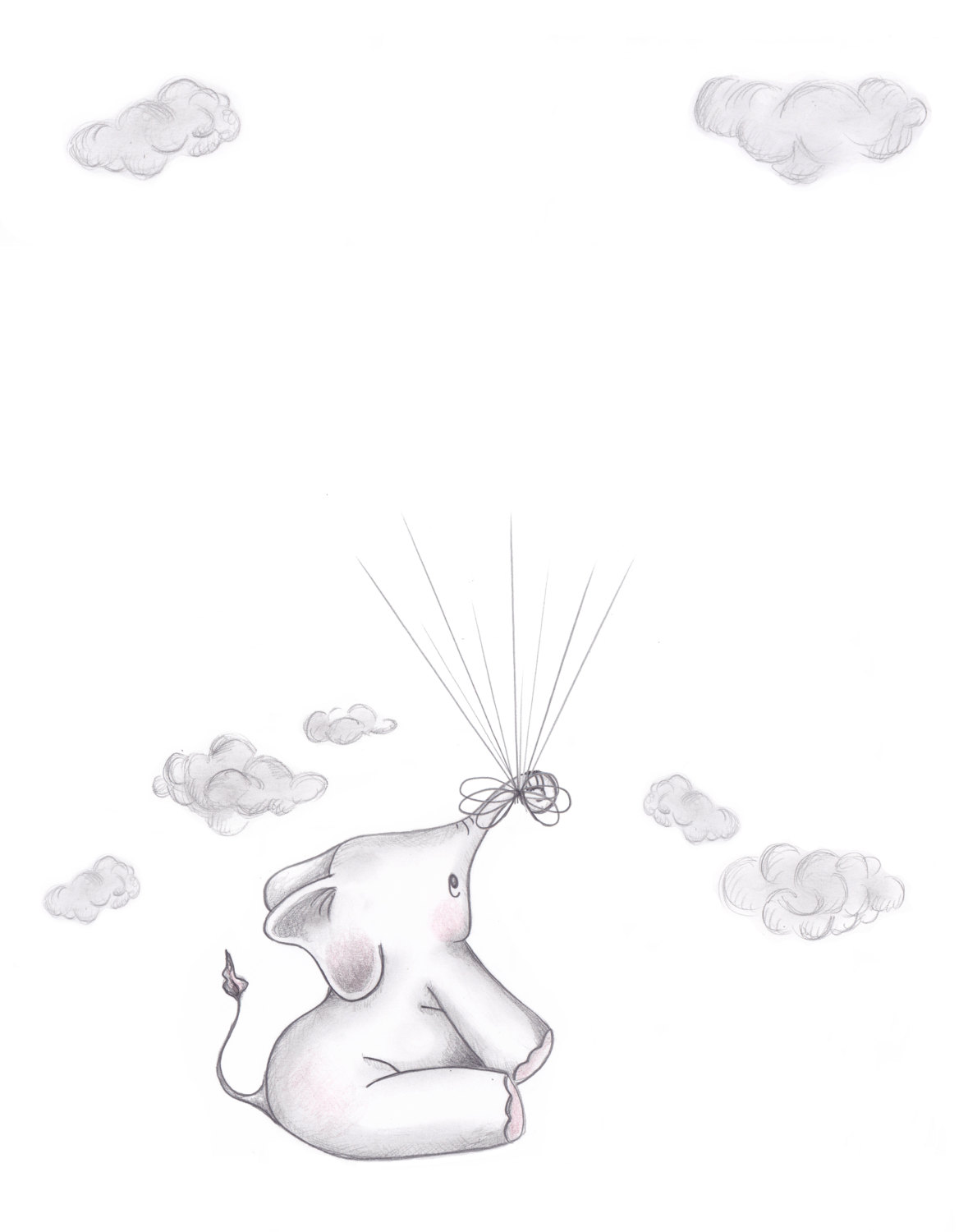 1179x1500 Elephant And Bunny Baby Shower Guestbook Alternative For Elephant