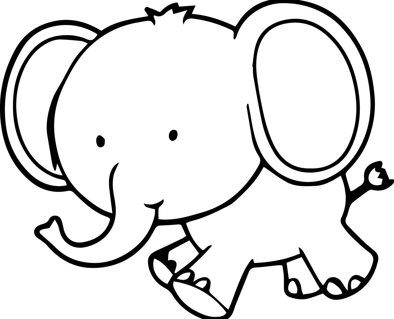 Elephant Baby Drawing at GetDrawings | Free download