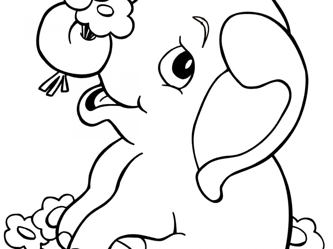1152x864 Free Printable Elephant Coloring Pages For Kids Page Animals