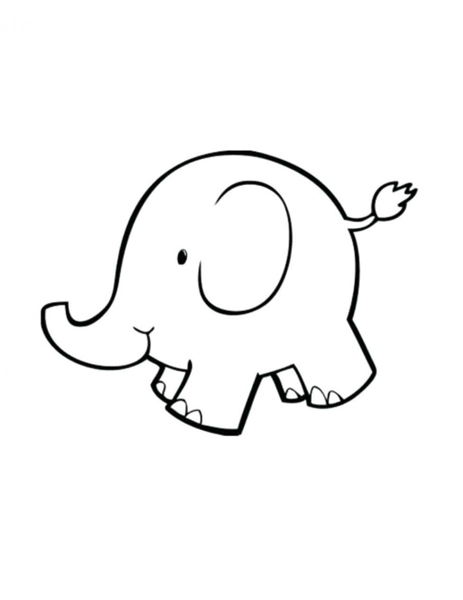 921x1193 Simple Elephant Outline Coloring Pages Outline Elephant. Baby