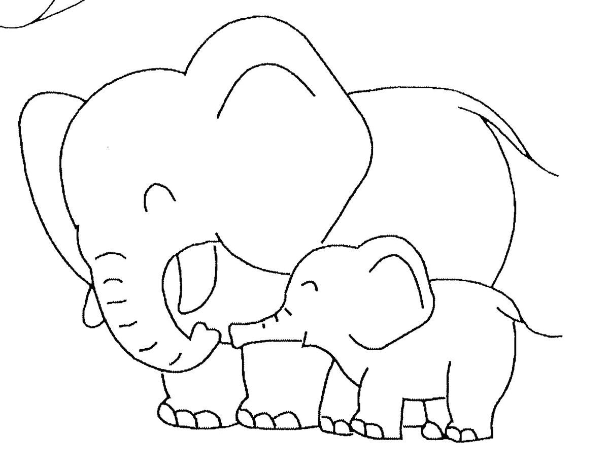 1200x922 Baby Elephant Colouring Page. Free Coloring Page Elephant Download