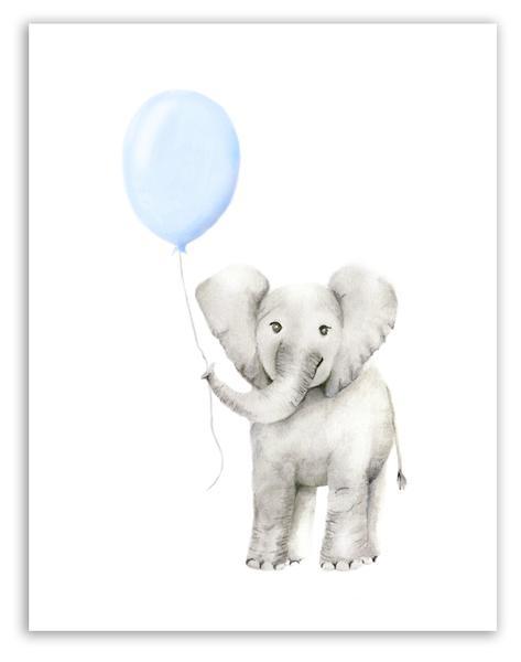 473x600 Elephant With Round Balloon Print