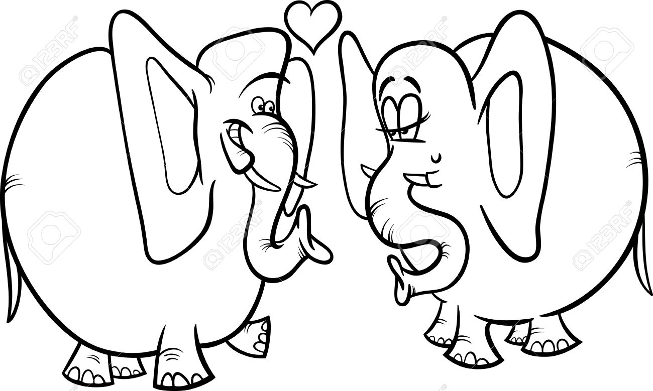 1300x779 Elephant Love Black And White Wallpapers Background